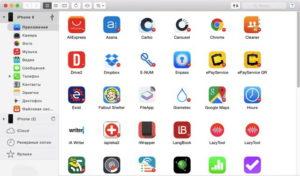 Файловый менеджер, встроенный в программу iTunes